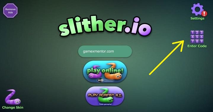 slither io codes list
