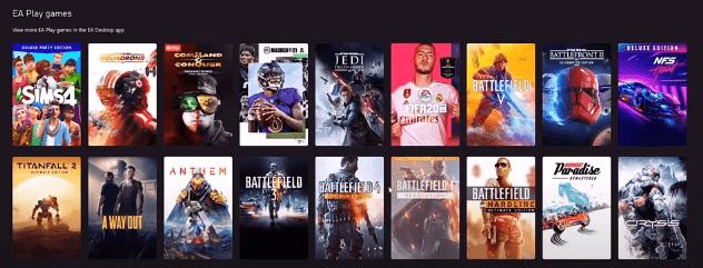 various EA games