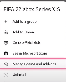 manage games and add-ons