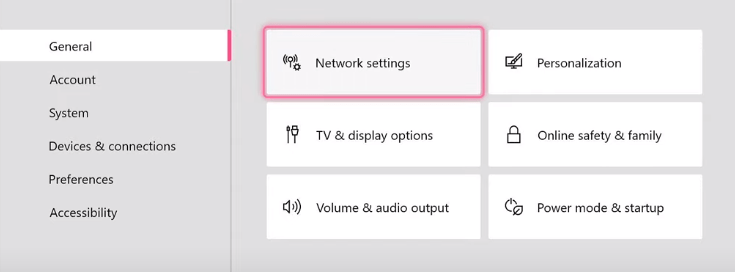 general and network setting