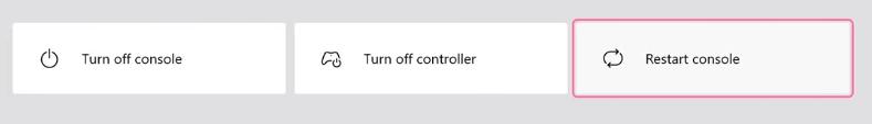 restart console