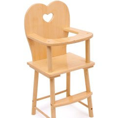 Wooden High Chair Uk Upside Down For Back Natural Doll S Highchair Gamez Galore