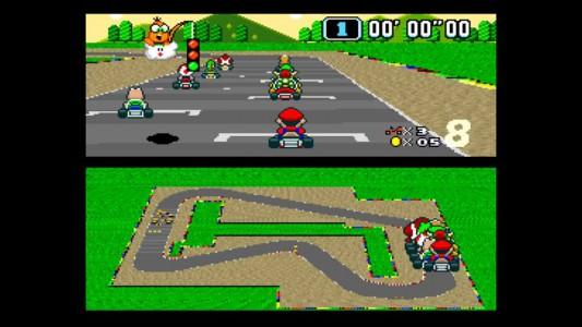 Super Mario Kart start