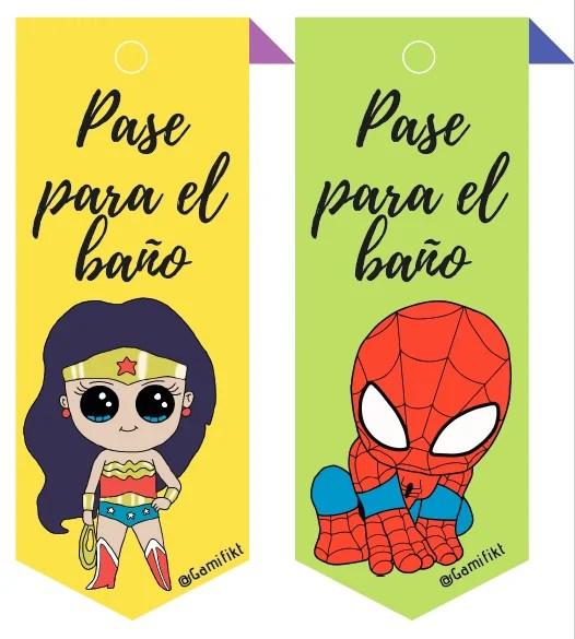 superhéroes baño