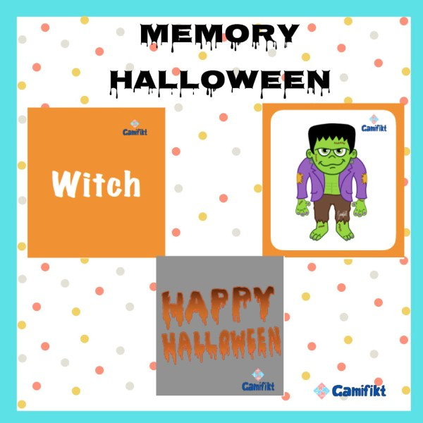 Juego Memory Halloween