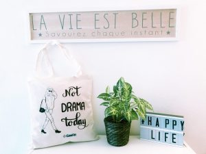 "Tote bag ""not drama today"""