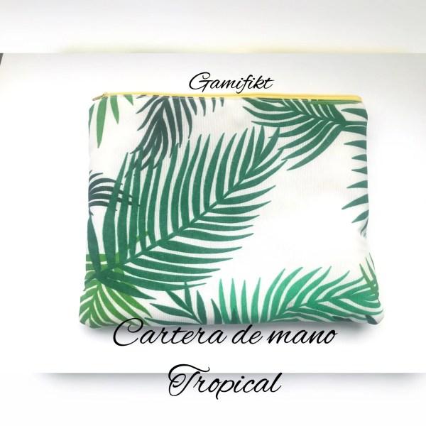cartera de mano tropical