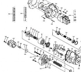 Hydraulikpumpe Kubota : Hydraulikpumpe Kubota KX41, KH41