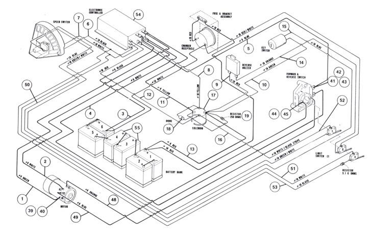 golf cart battery hook up diagram