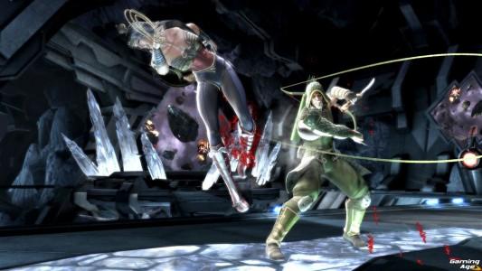 injustice-dcf_greenarrow_wonderwoman_batcave_ix