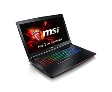MSI GE72-6QD161 43,9 cm (17,3 Zoll) Notebook (Intel Core i7 -6700HQ (Skylake), 16GB RAM, 1TB HDD, NVIDIA Geforce GTX 960M, Win 10 Home) schwarz - 2