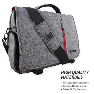 Laptoptasche, Snugg - Graue Notebooktasche - Umhängetasche für Laptops mit einer Bildschirmdiagonale von bis zu 17 Zoll - 8