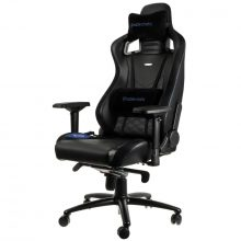 NobleChairs EPIC Series Faux Leather Gamingstol – Svart/Blå