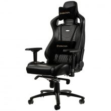 NobleChairs EPIC Series Äkta Läder Gamingstol – Svart