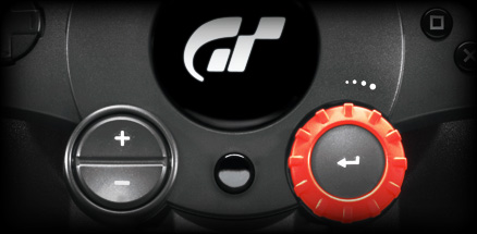 Bird's eye close up of Driving Force Gt controls
