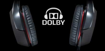 G930 earpieces and Dolby logo