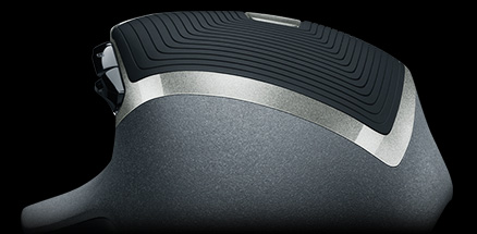 G602 back view displaying the natural shape and intuitve design