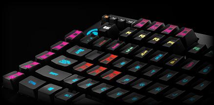 Angle section of G910 9 programmable G-keys