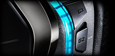 RGB headset close up