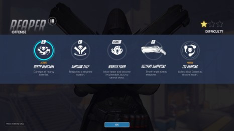 Reaper Offense Abilities Overwatch