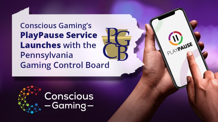 Conscious Gaming's PlayPause Service Launched with the Pennsylvania Gaming Control Board