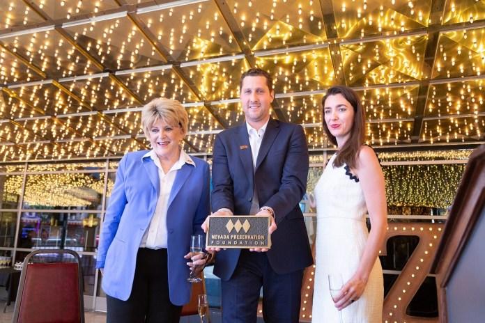 Nevada Preservation Foundation, Las Vegas Mayor Carolyn Goodman and local leaders honor the Plaza Hotel & Casino