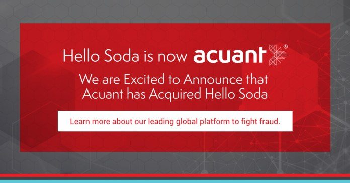 Hello Soda is acquired by the Acuant Group