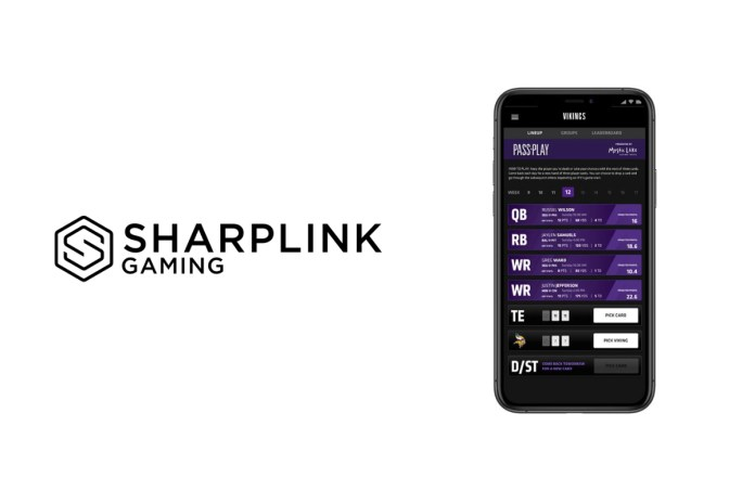 """Minnesota Vikings Team with SharpLink Gaming to Offer NFL Fans Free Fantasy-Style """"Pass or Play"""" Mobile Gaming Experience"""