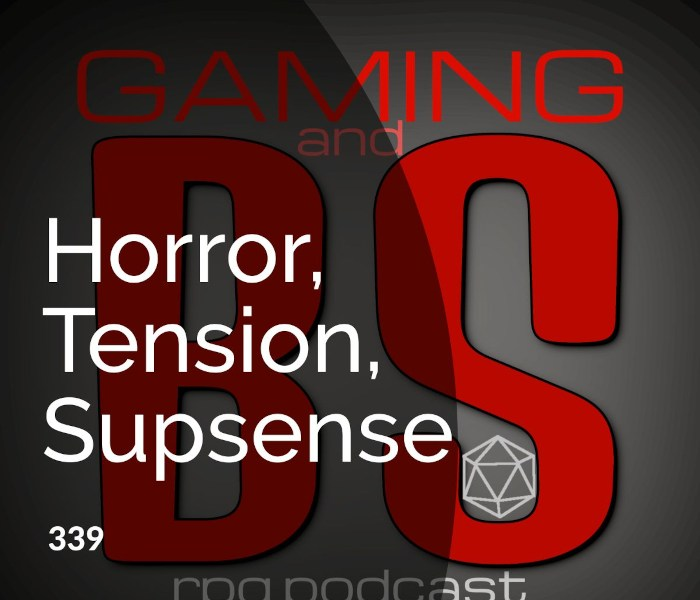 ep 339 horror, tension, suspense in rpg's album art