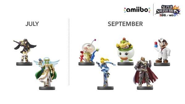 new lineup of amiibos