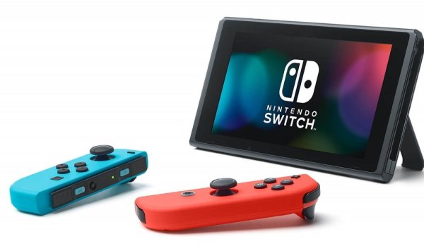 Nintendo Switch with joy-cons