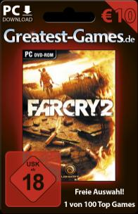 Game-Card für Far Cry 2 bzw. 10 Euro. (Foto: Softdistribution GmbH)