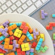 So sehen die leckeren Tetris-Plätzchen aus! Mjam! (Foto: radbag)