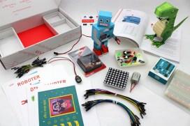 Das Komplett-Set inkl. Roboter & Saurier (Foto: fritzing.org)