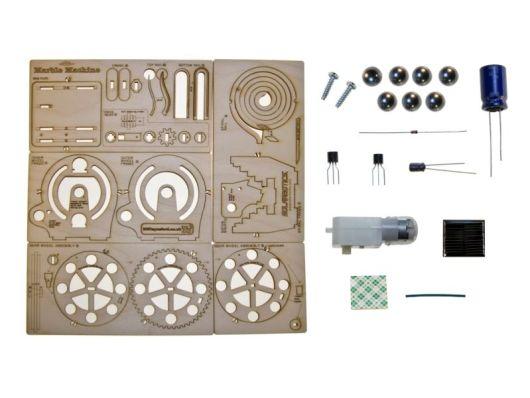 Die Einzelteile der Solar Marble Machine (Foto: Solarbotics)