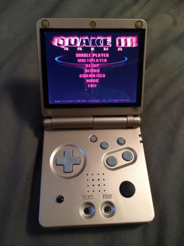 Pi SP Retro Konsole Im Gehuse Eines Gameboy Advance SP
