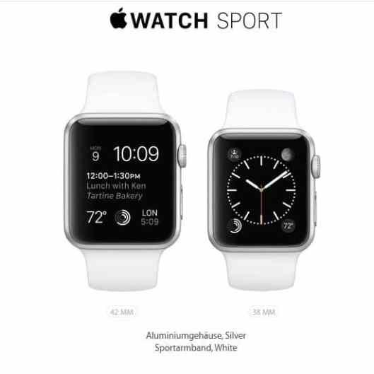 Die Watch Sport (Foto: Apple.com)