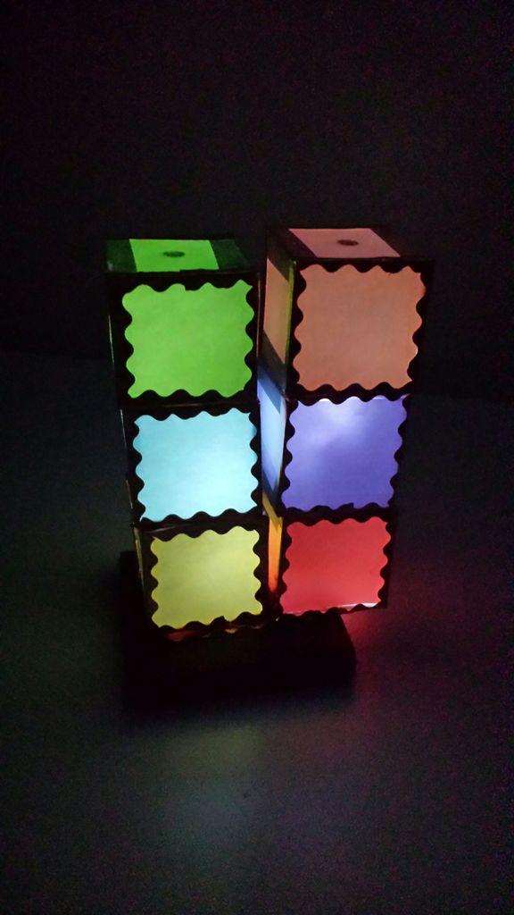 So kann eure Tetris-Lampe aussehen. (Foto: Instructables)