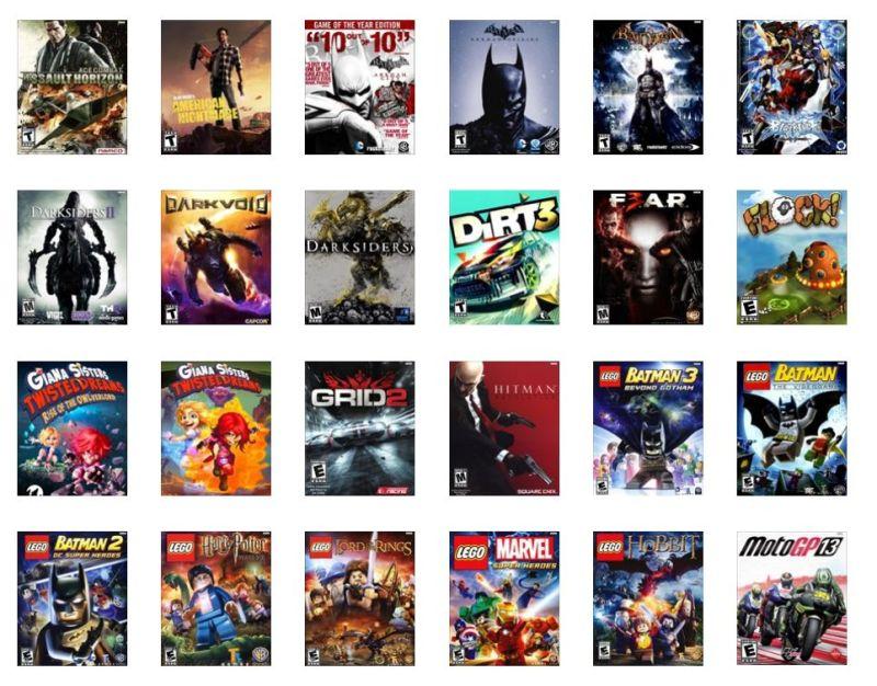 Eine Auswahl aktueller GameFly-Spiele. (Foto: GameFly)
