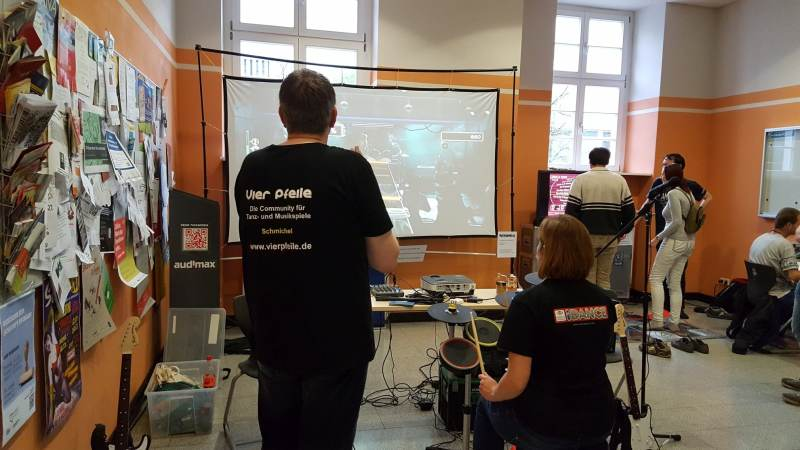 Musikspiele waren auch ein großes Thema. (Foto: GamingGadgets.de)