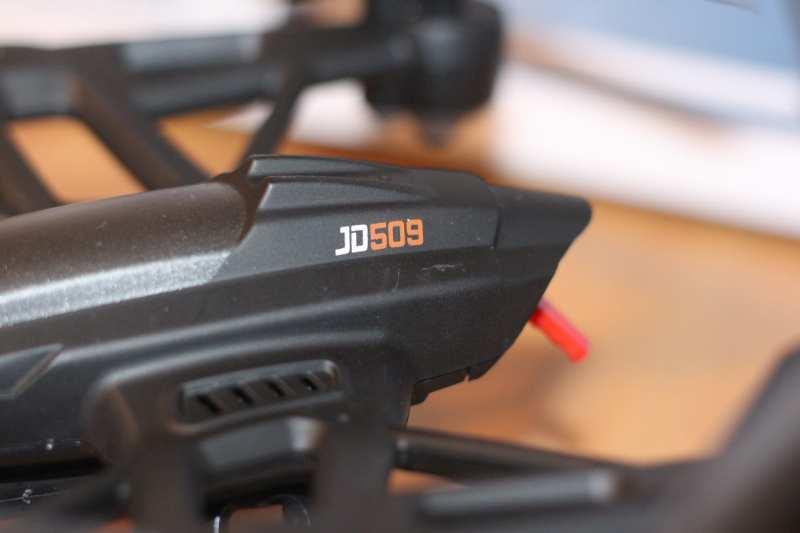 Auf der Drohne steht JD 509, auf der Packung JXD 509. (Foto: GamingGadgets.de)