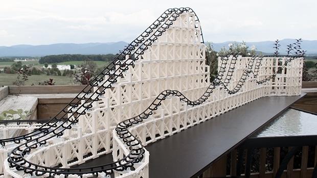 Diese Monster-Bahn besteht aus vier Baukästen. (Foto: CoasterDynamix)