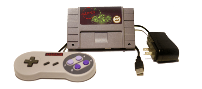 Das 16bit-Modell orientiert sich an dem Super Famicon. Hierzulande als Super Nintendo bekannt. (Foto: MadeBySloan)