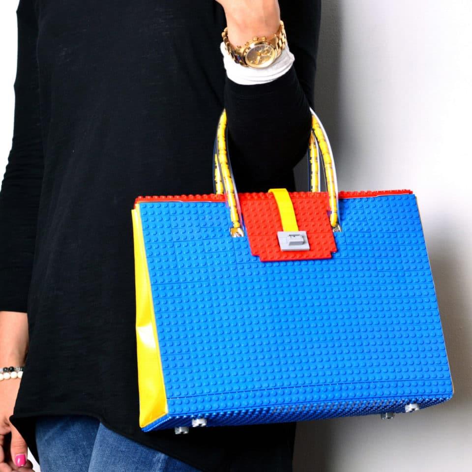 lego handtaschen stylische klotz accessoires zum umh ngen. Black Bedroom Furniture Sets. Home Design Ideas