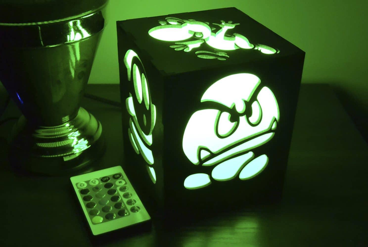 Led Laternen Fur Gamer Mario Pac Man Und Donkey Kong Zum Leuchten