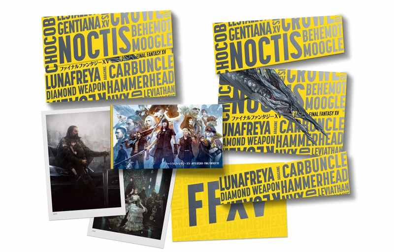Inhalt der limitierten Edition voe The Art & Design of Final Fantasy XV. (Foto: Cook & Becker)
