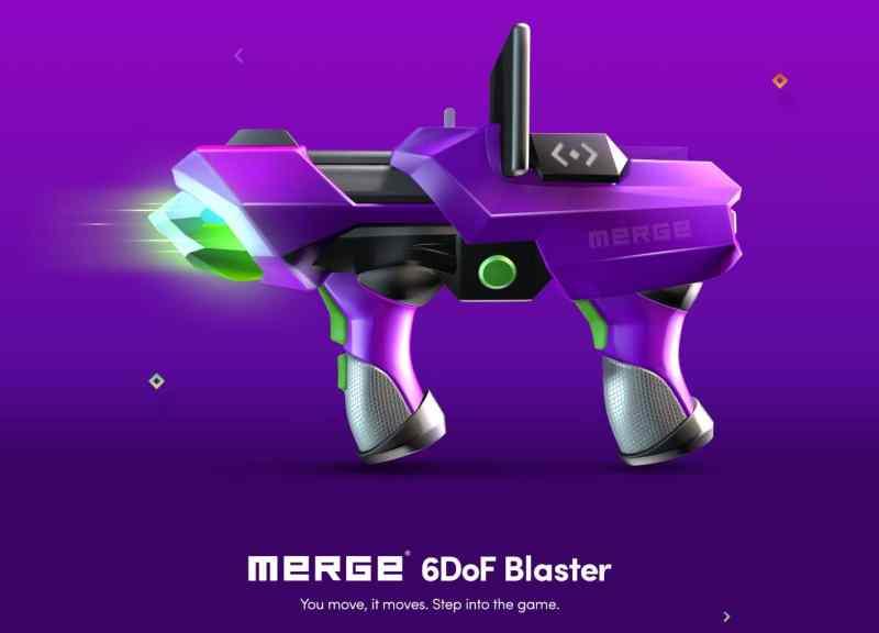 Der Merge 6DoF Blaster ist Spielzeug. (Foto: Merge Labs)