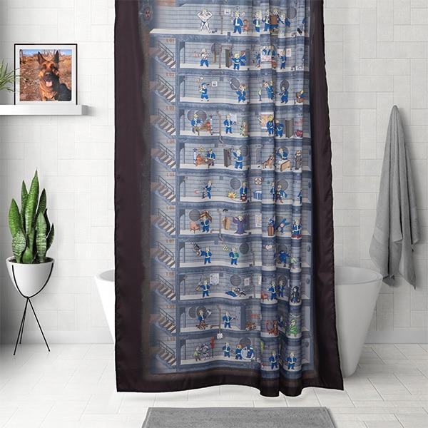 Schöner duschen mit Fallout 4 und diesem Vorhang. (Foto: ThinkGeek)