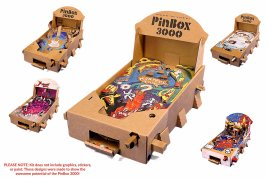 Der Flipper aus Pappe. (Foto: PinBox 3000)