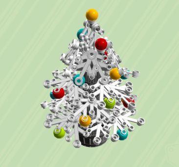 Weihnachtsbaum mit Schnee. (Foto: ChrisMcVeight)